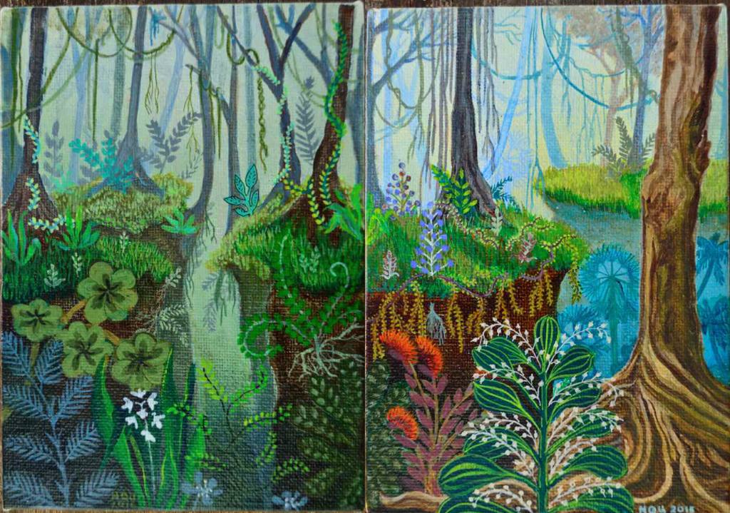 jungle diptych